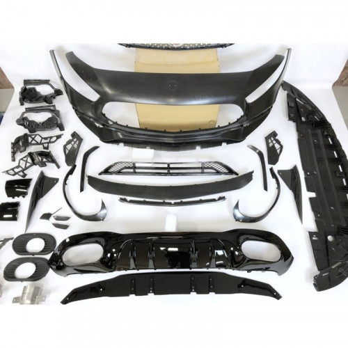 KIT ESTETICO COMPLETO IN ABS MERCEDES CLASSE A W177 LOOK 35 AMG DIAMOND