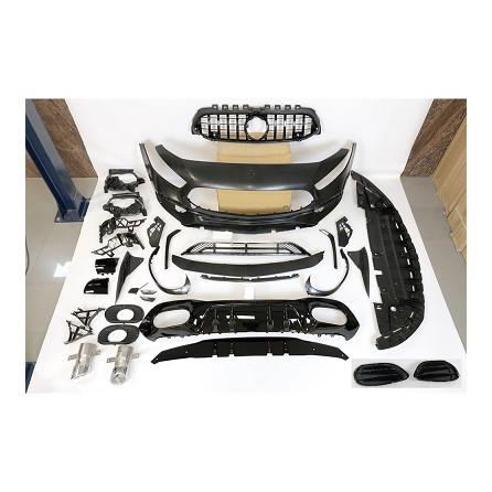 KIT ESTETICO COMPLETO IN ABS MERCEDES CLASSE A W177 LOOK 35 AMG BLACK