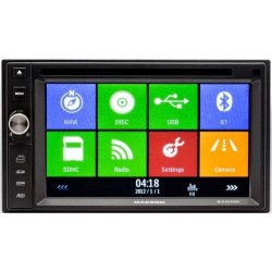 "MACROM M-DVD5566 2 din DISPLAY 6,2"" GPS DVD USB BLUETOOTH SD MAPPA ESCLUSA"
