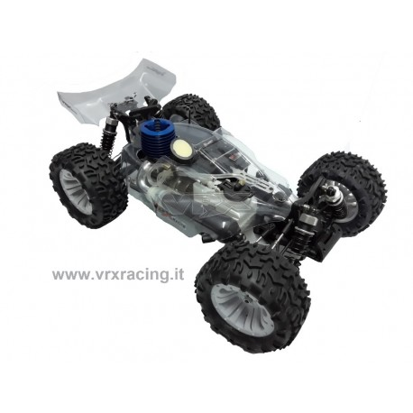 Bugster N2 1/10 Off-Road con Motore a Scoppio GO.18 Cambio 2 Marce Radio 2.4GHz Fly Sky 4WD RTR VRX