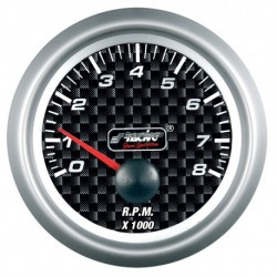 SIMONI RACING MANOMETRO Contagiri 0-8000 RPM - Carbon look