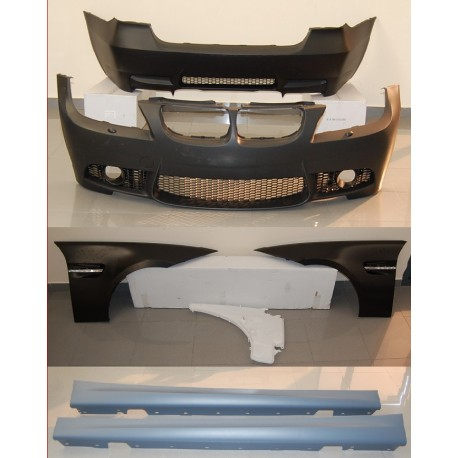 KIT ESTETICO COMPLETO IN ABS BMW SERIE 3 E90 LOOK M3