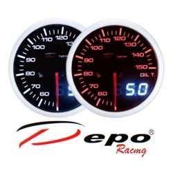 DEPO RACING Manometro Dual View Temperatura Olio 50-150° DEPO Racing