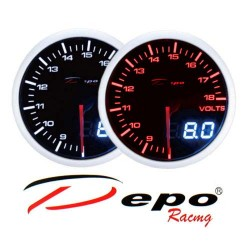 DEPO RACING Manometro Dual View Voltmetro 8-18V DEPO Racing