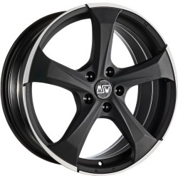 OZ RACING CERCHI IN LEGA OZ RACING MSW 47 MATT DARK TITANIUM FULL POLISHED 17