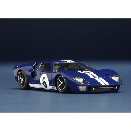 NSR AUTOVETTURA Ford mk ii gt 40 qualification le mans 1966 n.6 blue sw shark 20k
